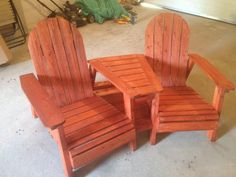 Adirondack Chairs with Table, Great Mods!