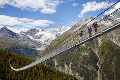 """Il """"Charles Kuonen"""" è il ponte pedonale sospeso più lungo del mondo"""