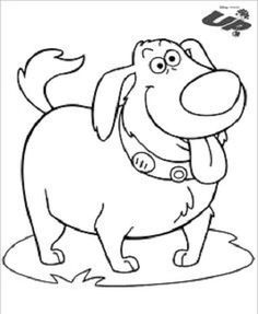 up coloring pages dug