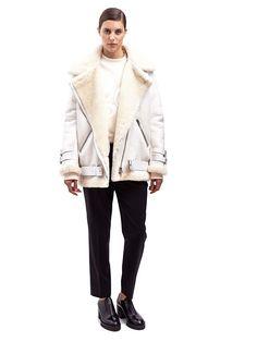 LN-CC Online Store - Men's and Women's designer clothing Shearling Jacket, Fur Jacket, Fur Coat, Retail Concepts, Lamb, Shop Now, Saint Laurent, Women Wear, Winter Jackets
