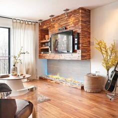 Un salon rustique chic - Salon - Avant après - Décoration et rénovation - Pratico Pratique