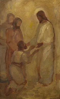 """""""The Savior's Atonement: Foundation of True Christianity,"""" by Elder Robert D. Hales, is one of my absolute favorite talks about Jesus Christ's Atonement. Do yourself a favor and read it! Images Of Christ, Pictures Of Jesus Christ, Lds Art, Bible Art, Catholic Art, Religious Art, Religious Paintings, Arte Lds, Jesus Painting"""