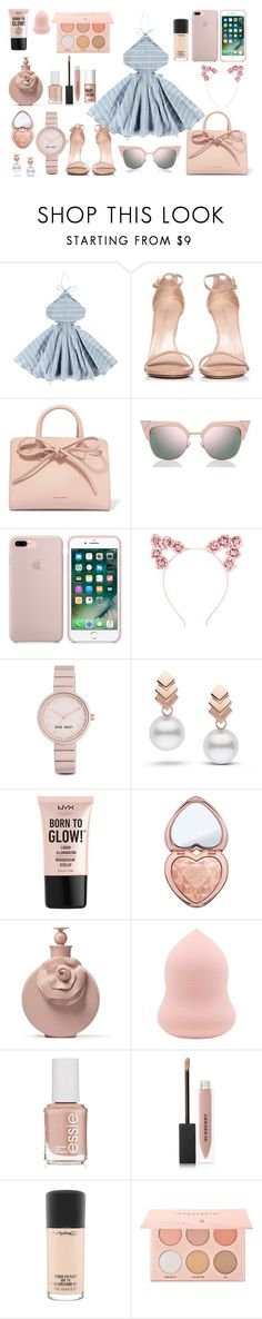 """""""Summer love"""" by tess-302 ❤ liked on Polyvore featuring Tuchinda, Stuart Weitzman, Mansur Gavriel, Fendi, Hot Topic, Nine West, Escalier, NYX, Too Faced Cosmetics and Essie"""