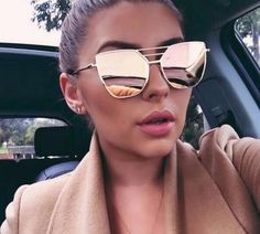 Top Quality Fashion Sunglasses Women Men Brand Designer Vintage Sun Glasses For Women Female Sunglass Oculos De Sol Feminino New Mirrored Aviator Sunglasses, Mirrored Aviators, Gold Sunglasses, Retro Sunglasses, Cat Eye Sunglasses, Sunglasses Women, Hexagon Sunglasses, Aviator Glasses, Eyes