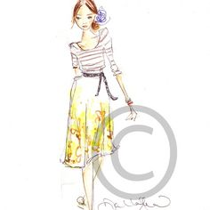 dallas shaw, fashion illustrator