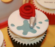 Fireman Cupcakes by The Clever Little Cupcake Company (Amanda), via Flickr