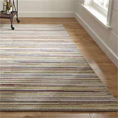 Savoy Tweed Striped Hand Knotted Wool 8'x10' Rug   Crate and Barrel