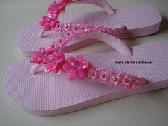 chinelo rosa bordado - Pesquisa Google