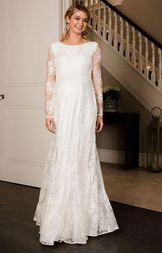 a32d1a6eddf Helena Maternity Wedding Gown Long Ivory - Maternity Wedding Dresses