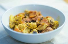 Tropical Turmeric Stir Fry. Combine the healthful and flavorful spice of turmeric with ginger, broccoli, chicken and a unique twist o pineapple and raisins