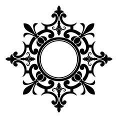 Medalion stencil