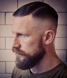I love this cut. Very clean and very masculine High Fade With Side Part