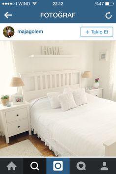 Hemnes bed frame white stain l nset beautiful - Hemnes schlafzimmer ...