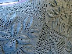 Leaf Knitting Pattern, Baby Knitting, Knitting Patterns, Knitted Afghans, Knitted Blankets, Knit Pillow, Bedspreads, Knitting Projects, Ravelry