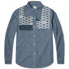 Visvim Patchwork Granger Shirt (Blue)