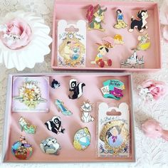 Such beautiful Disney Pins! Walt Disney, Cute Disney, Disney Style, Disney Magic, Disney Pin Trading, Disney Vacations, Disney Trips, Disney Pins Sets, Bambi