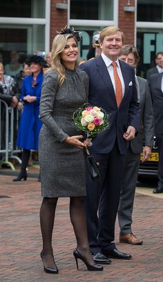 King Willem-Alexander of The Netherlands and Queen Maxima of The Netherlands visit the former mining region on October 8, 2015 in Kerkrade, Netherlands.