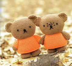 Amigurumi Boris and Barbara Bear from Miffy - Free Crochet Chart Pattern