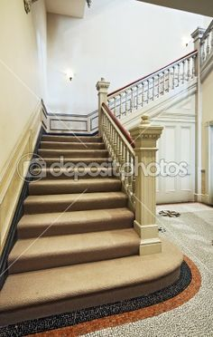 Victorian staircase by jrphoto - Stock Photo