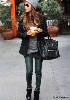 Sac luggage Celine Sneakers Isabel marant Slim cuir vert