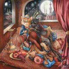 MATIN LUMINEUX: Sokolova Nadezhda: Les chats