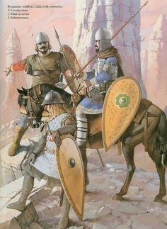 Angus McBride - Guerreros Bizantinos, siglo XII-XIII