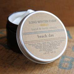 Beach Day Skin Cream - Long Winter Soap Co.
