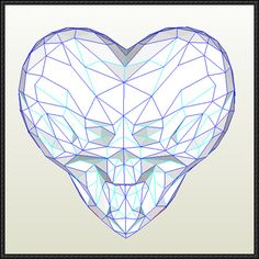 Gears of War - Valentine's Day Heart Helmet Papercraft Free Download - http://www.papercraftsquare.com/gears-war-valentines-day-heart-helmet-papercraft-free-download.html