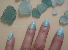 unghie finte ballerina verde acqua vetro di mare menta nail art matrimonio spiaggia natale celeb pastel goth elegante nozze lasoffittadiste