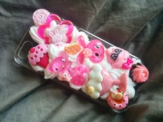 Pink Sweet Desserts Decoden iPhone 5 Case Kawaii Whipped Cream dripping These are ready to ship cell phone covers cases (type of case is listed in the title).  Each is unique and made by hand. Combinations of coloured