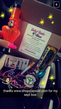 The Baked Barbie Subscription box is great for lady stoners! Get cutest cannabis accessories at www.shopstaywild.com #marijuana #weed #cannabis #420