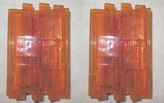 Pair of Danish Orange Acrylic Wall Sconces by Claus Bolby image 2