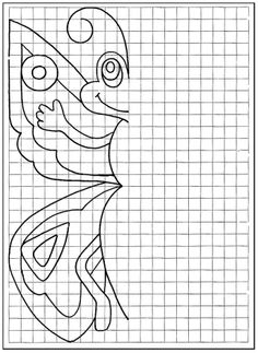 Cute symmetry project with L's favorite Russian characters. She loved this! Symmetry Activities, Math Activities, Symmetry Art, Math Patterns, Graph Paper Art, Art Worksheets, Elementary Art, Learn To Draw, Art School