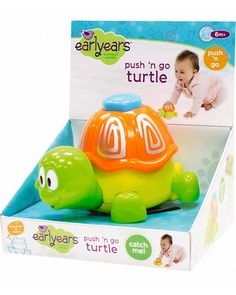 Earlyears Push 'n Go Turtle $14.24 at Kohl's Promote pushing, grasping and crawling with this Earlyears Push 'n Go Turtle that encourages baby to follow along. Product FeaturPromote pushing, grasping and crawling with this Earlyears Push 'n Go Turtle that encourages baby to follow along. Product Features: Plastic construction ensures lasting use. Product Details: Ages 6 months and up Model no. 163261
