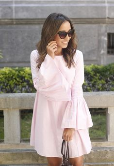 Striped Dress With Bell Sleeves | BeSugarandSpice - Fashion Blog