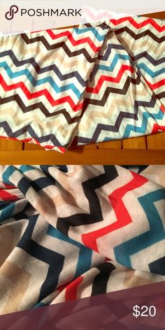 Chevron design infinity scarf Bought in a boutique and haven't worn. Love all the colors, giving it lots of versatility. Accessories Scarves & Wraps