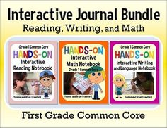 Interactive Notebook Bundle for First Grade - 549 pages! $