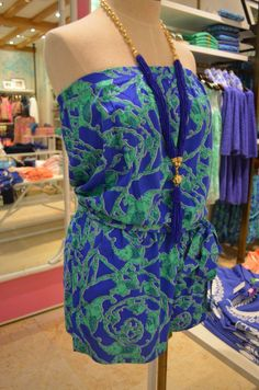 Lilly Pulitzer Resort '13- Colleen Romper in Iris Blue Loopy
