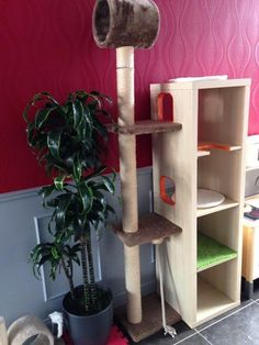 Cat playground and scratch post - IKEA Hackers #catsdiyfurniture #CatTree