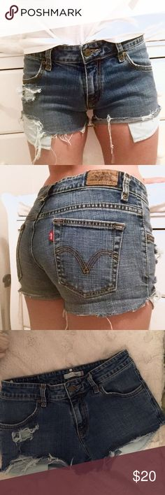 Mid-Rise Cheeky LEVIS cut offs 14 in. WAIST // 2 in. INSEAM // **would fit a size 26-27 comfortably** Levi's Shorts Jean Shorts
