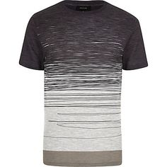 Ecru faded scribble print t-shirt �18.00