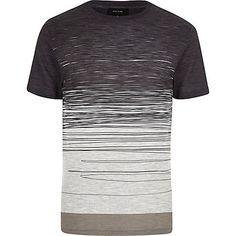 Ecru faded scribble print t-shirt �18.00