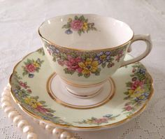 Vintage Colclough China Tea cup and Saucer by TheEclecticAvenue, $29.99