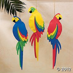 Jumbo Parrots from Oriental trading