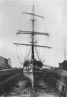 Cutty Sark in Dry Dock 1922