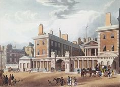 View of the Admiralty, 1818 (colour engraving) Wall Art & Canvas Prints by Thomas Hosmer Shepherd