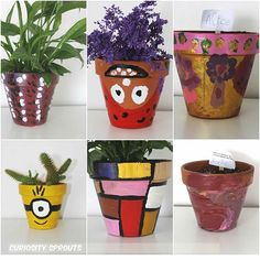 ✨Easy as pie where you never can go wrong. Guess where is my pot? Mondrian, Art For Kids, Planter Pots, Canning, History, Easy, Plants, Art For Toddlers, Art Kids