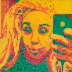 Artist Jason Mecier creates Amanda Bynes portrait out of Sour Patch Kids
