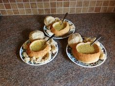 Broccoli Cheese Soup In Bread Bowls