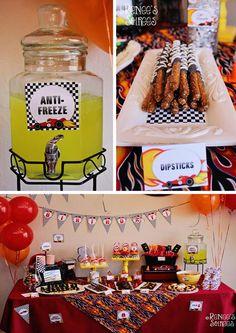 Race Car Birthday Party with LOTS of AWESOME IDEAS via Kara's Party Ideas | Kara'sPartyIdeas.com #RaceCar #Party Idea #boy #decorations